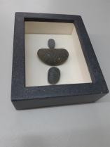 Objektrahmen, 3D Bilderrahmen, Kastenrahmen Holz, Steine, Fundstücke, Foto, Erinnerung