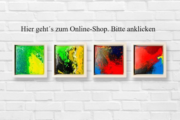 Acryl Fluid Painting, Schattenfugenrahmen, Stuttgart