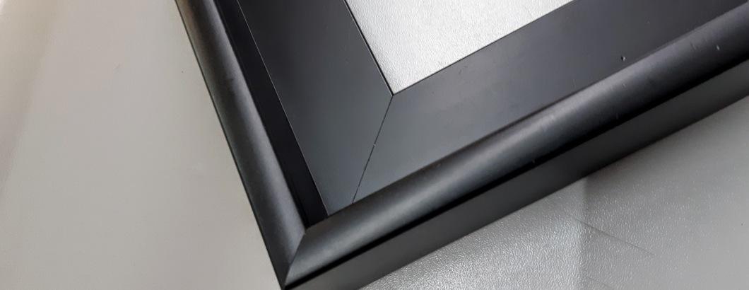 Schattenfugenrahmen Schwarz, Standard, 18x24, 50x60, 70x70, 100x100