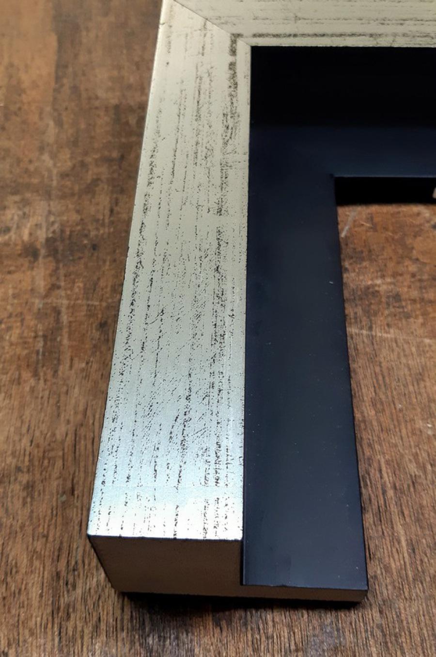Schattenfugenrahmen Silber, Leinwandbild