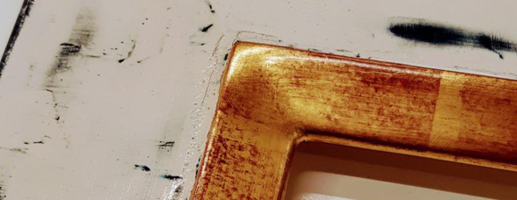 Wandspiegel nach Maß, Echtgold