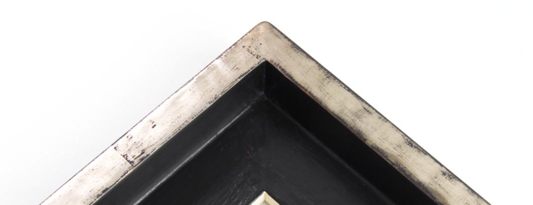 Schattenfugenrahmen Schwarz, Premium, Exklusiv, Handarbeit