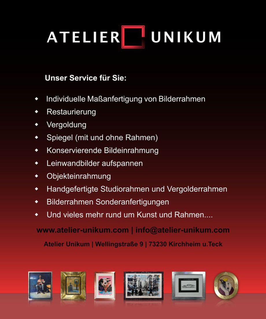 Bilderrahmen, Einrahmungen, Restaurierungen, Vergoldungen, Stuttgart, München