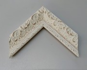 Barock, Rahmen, Vintage, Weiß