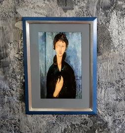 Modigliani Kunstdruck mit Rahmen, kaufen, Wandbild