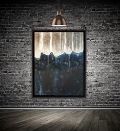 Schattenfugenrahmen, Schwarz, Keilrahmenbild